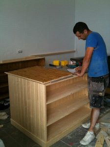 Building a Kitchen for Deli on the Hill Restaurant in Tenerife
